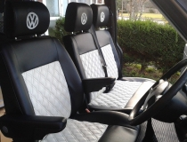 Black and White Upholstered T4 Seats