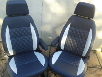 VW T5 Camper Upholstery Diamonds with Colour Band