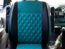 VW T4 Seats Upholstered Spider Web Embroidery